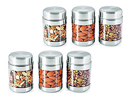 adf906425 Buy Sizzle Clear Containers 300 Ml Set Of 3 Twist Canisters S8 Set of 2 Online  at Low Prices in India - Amazon.in