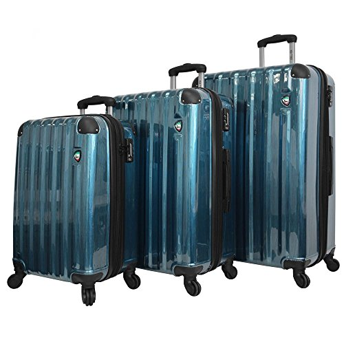 mia-toro-spazzolato-lucido-hardside-spinner-luggage-3-piece-set-blue-one-size