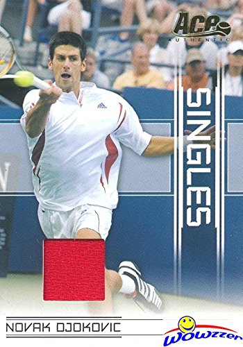 Novak Djokovic 2007 Ace Authentic Singles #SI-16 MATCH-WORN JERSEY Card! This Awesome Card Features an Authentic Game Used Jersey Piece! Shipped in Ultra Pro Card Saver to Protect it! WOWZZER (Game Jersey Ultra)