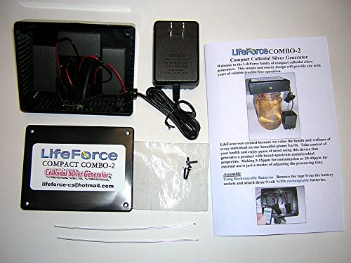 LifeForce Compact COMBO-2 Barebones Colloidal Silver Generator Package w/10 Gauge Wires