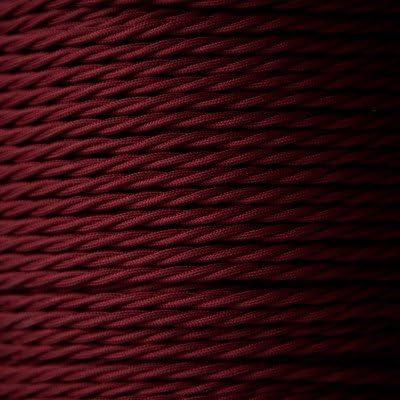 avec fil de terre 10 m C/âble torsad/é /à 3 conducteurs de 0,75 mm en tissu style vintage