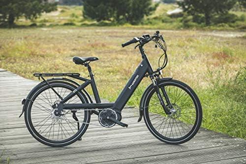 Aurotek Lisbon Bicicleta Eléctrica de Paseo, Adultos Unisex, Negro, 26