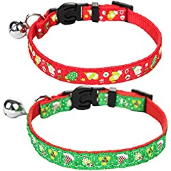 Cat Breakaway Collar with Bell Designer Pack of 2