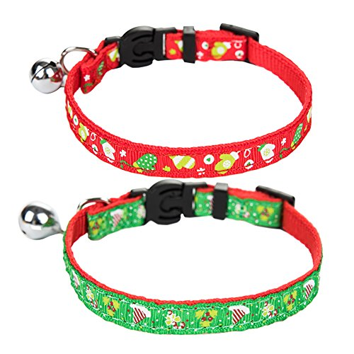 Bell Collar Designer - EXPAWLORER Cat Breakaway Collar with Bell Designer Pack of 2