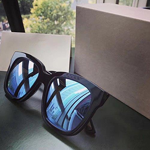 Gafas redondas de Black A VVIIYJ para Mopia sol hombres femeninas Mercury A de Gafas Gafas sol de Film sol Color polarizadas SqIHvOq