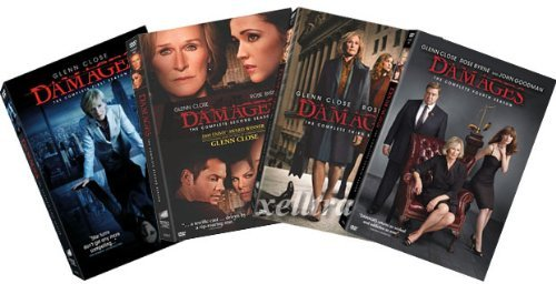 Damages DVD Set - The Complete Season One , Two, Three and Four - Season 1, 2, 3, 4