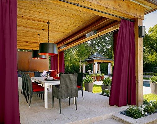 (Outdoor Curtain Burgundy 84