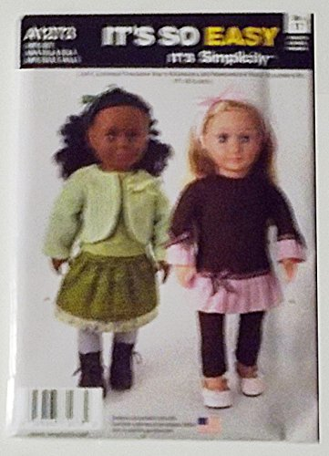 Clothing Doll Simplicity (Simplicity It's So Easy Pattern A1273 18-inch Doll Clothes)