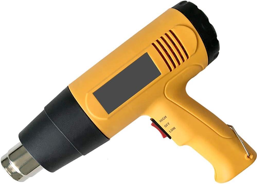 Pistola de aire caliente de soldadura, kit de pistola de aire caliente con boquilla y raspador, rango de temperatura 60 ℃ -600 ℃, utilizado para bricolaje, eliminación de pintura, envoltura PVC