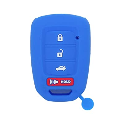 SEGADEN Silicone Cover Protector Case Skin Jacket fit for HONDA 3+1 Hold Buttons 4 Buttons Remote Key Fob CV4213 Deep Blue: Automotive [5Bkhe1015901]