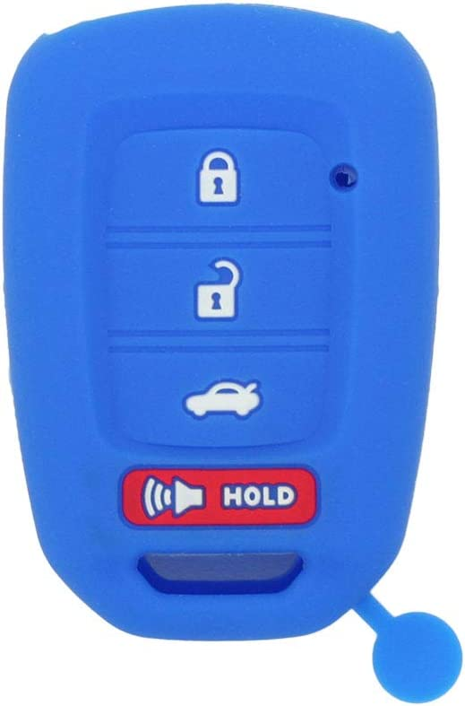 SEGADEN Silicone Cover Protector Case Holder Skin Jacket Compatible with HONDA 3+1 Hold Buttons 4 Buttons Remote Key Fob CV4213 Light Blue