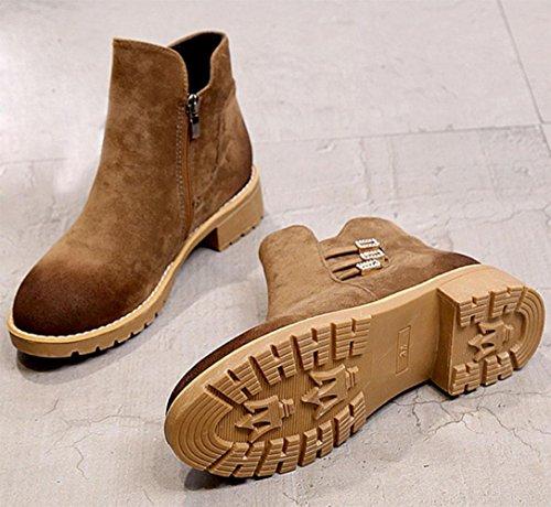 Martin Tête Femmes Hauts Eu38 5 Rondes Us7 D'automne Femmes Kuki Bottes Chaussures Uk5 5 Pour Cn38 Short Pas Talons Bottes Femmes Bottes Cher Pour qxIF6wFP