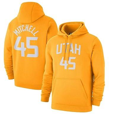 Sudadera con Capucha de Baloncesto Utah Jazz Donovan Mitchell # 45 ...