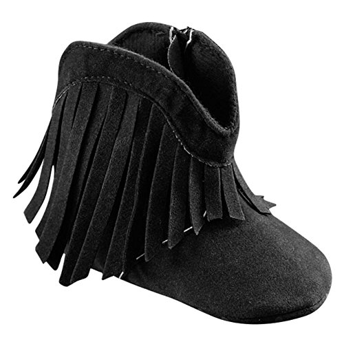 BOBORA Infant Baby Girl's Soft Bottom Non-slip Tassel Cowboy Boots Toddler Shoes - Cheap Moccasin Boots
