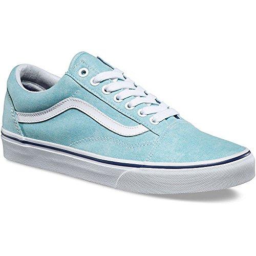 98434a968fe8 Galleon - Vans VA38G1NA2 Unisex Washed Old Skool Skate Shoes, Blue Radiance/Crown  Blue, 5.5 M US Men / 7 M US Women