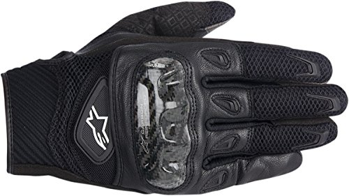 (NEW ALPINESTARS SMX-2 AIR CARBON ADULT LEATHER GLOVES, BLACK, LARGE/LG)