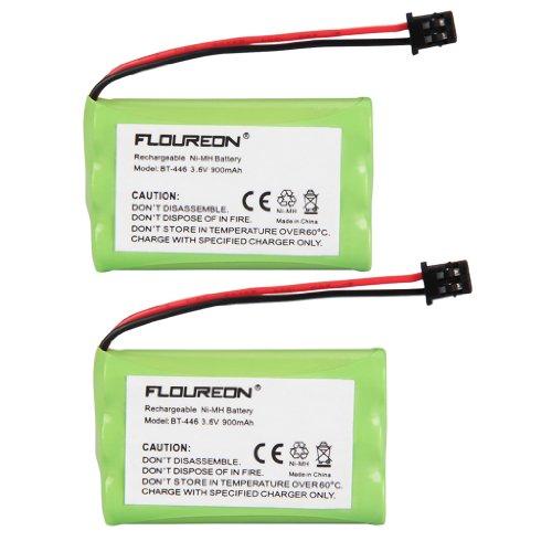 Floureon 2 Packs 3.6V 900mAh Rechargeable Cordless Phone Batteries for Uniden BT-446 BP-446 BT-1005 BT446 BP446 DCT6462 DCT6482 DCT746M