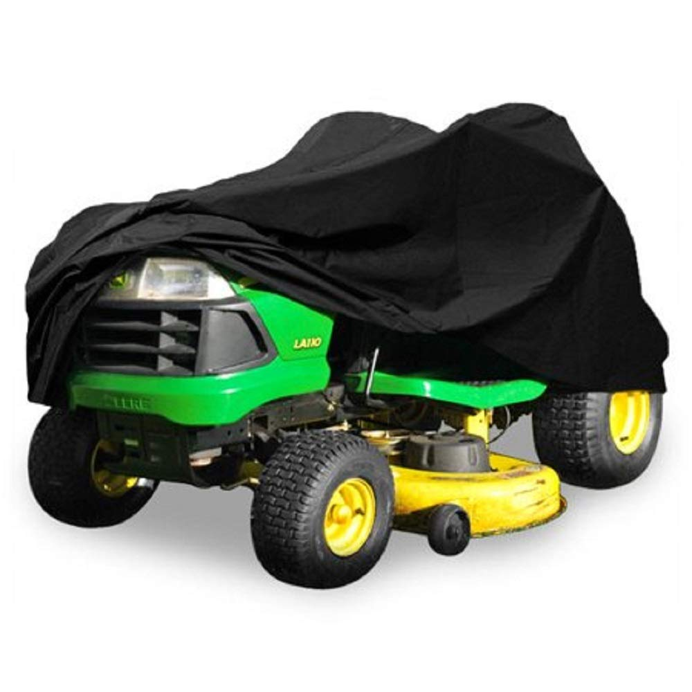 Heavy Duty 420 Denier Riding Lawn Mower Cover By Premium Products - Fits Decks up to 54'' - Water, Mildew & UV Protection - Black