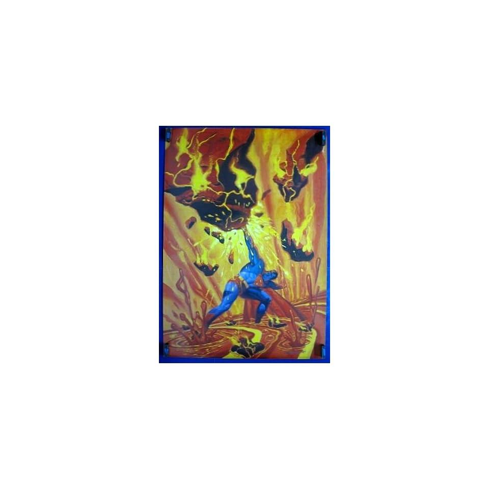 Superman Volcano Lava Poster 35 x 25 1989