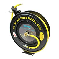 Capri Tools Auto-Rewind Retractable 50-Ft Auto-Rewind Air Hose Reel with 3/8-Inch Rubber Hose