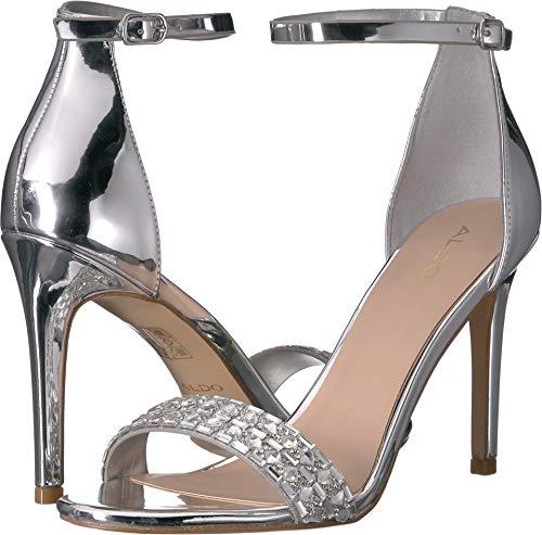 ALDO Women's Anang Silver 38.5 B - Stiletto Aldo