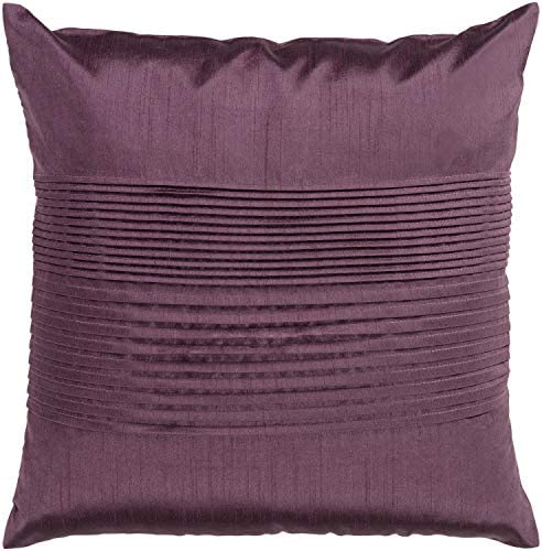 Diva At Home 18 Rhubarb Purple Tuxedo Pleats Decorative Throw Pillow – Poly Filled
