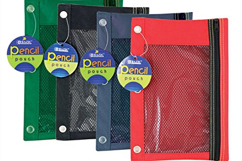 Bazic Products 803-144 3 Ring Pencil Pouch With Mesh Window