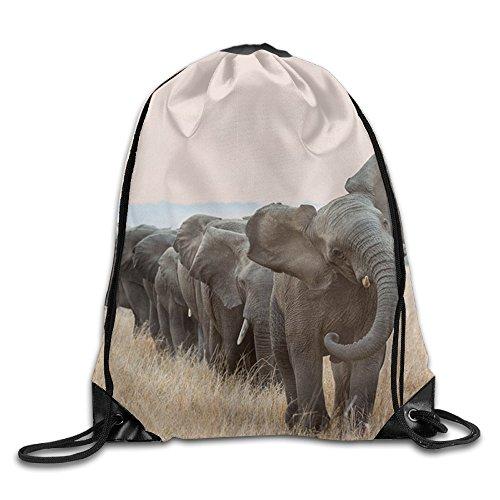 WHENLUCKY Hip Hop Drawstring Backpack Wild World Elephant Gymbag Large Drawstring Backpack Gymsack Sackpack For Sport Traveling Basketball Yoga (Tropics Basketball Costume)