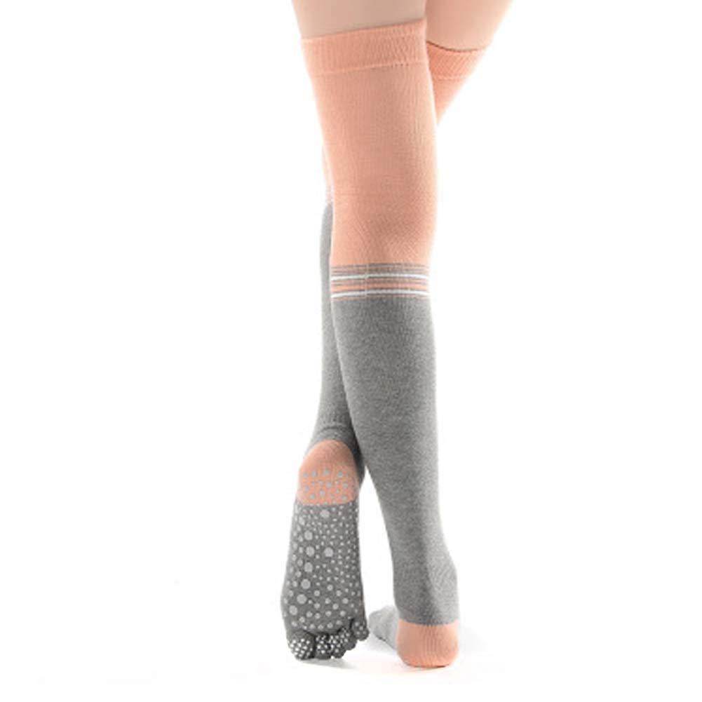 COYUE Women's High Yoga Socks Full Toe Grip Socks Non Slip Yoga Socks for Pilates, Pure Barre, Ballet, Dance, Barefoot Workout