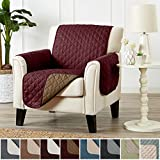 Room Furniture Home Fashion Designs Deluxe Reversible Quilted Furniture Protector and PET PROTECTOR. Two Fresh Looks in One. Perfect for Families with Pets and Kids. By Brand. (Chair - Burgundy/Taupe)