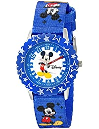 Kids' W002481 Mickey Mouse Time Teacher Watch with Blue Band