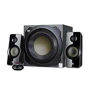 Woxter Big Bass 260 - Altavoces 2.1 (150W,Subwoofer de madera, Control de volumen con cable y doble conexión. Ideal para TV, PC y videoconsolas), color negro