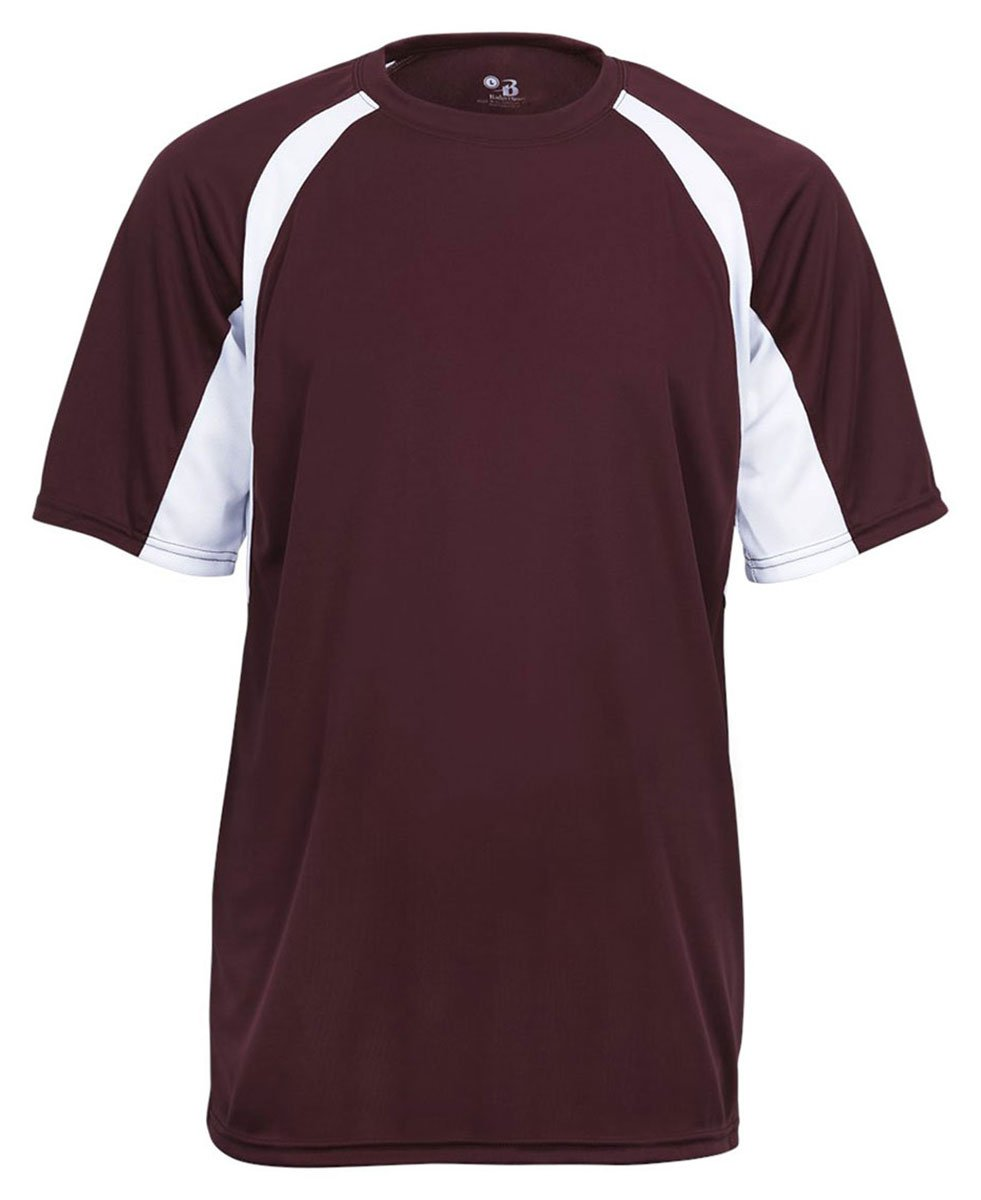 Men's two-tone moisture-wicking cool and dry sport