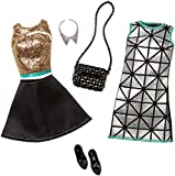 Barbie Fashion 2 Pack Glamour - Gold, Turquoise, & Black