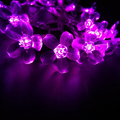 Cute LED Cherry Blossoms String lights 4M 13.1FT 40 Bulbs Battery Powered Decoration for Home Wedding Christmas Party Bar (Pink)
