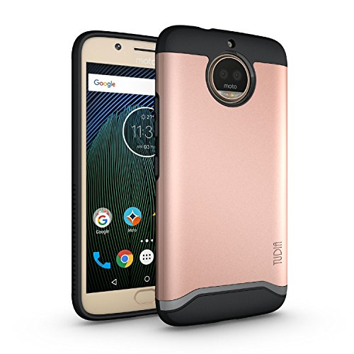TUDIA Moto G5S Plus Case, Slim-Fit HEAVY DUTY [MERGE] EXTREME Protection/Rugged but Slim Dual Layer Case for Motorola Moto G5S Plus [ONLY Compatible with Moto G5S Plus] (Rose Gold)
