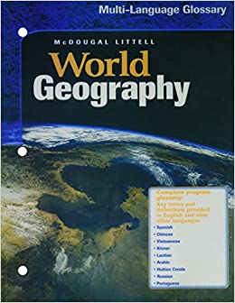 Book World Geography: Multi-Language Glossary