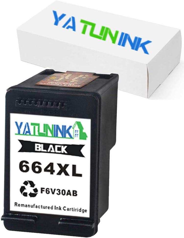 YATUNINK Remanufactured 664xl Ink Cartridge Replacement for HP 664XL 664 XL Black Ink F6V30A for Deskjet Ink Advantage 1115 2135 3635 2138 3636 3638 4535 4536 4538 4675 4676 4678 Printer(1 Black)
