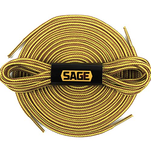 [SAGE] Work Boot Laces, Heavy Duty Replacement Shoelaces (Gold/Tan - ()