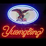 New Yuengling Lager Eagle Real Glass Neon Light Sign Home Beer Bar Pub Recreation 19x15