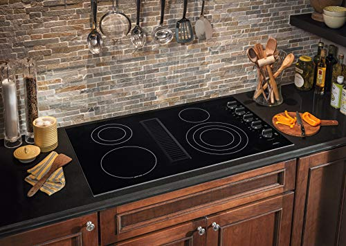 """rc36de60pb 36"""" electric built in downdraft cooktop with down"""
