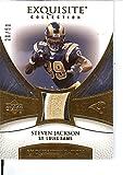 Football NFL 2007 Exquisite Collection Patch Gold #JA Steven Jackson MEM 20/50 Rams