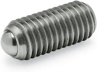 Schwarz Gewinde d1 Ganter Normelemente GN 615.3-M24-KS 3-M24-KS-Federnde Druckst/ücke mit Innensechskant M24