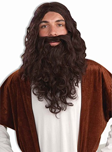 Forum Biblical Wig and Beard Set, Brown, One Size - Costumes Beards And Wigs
