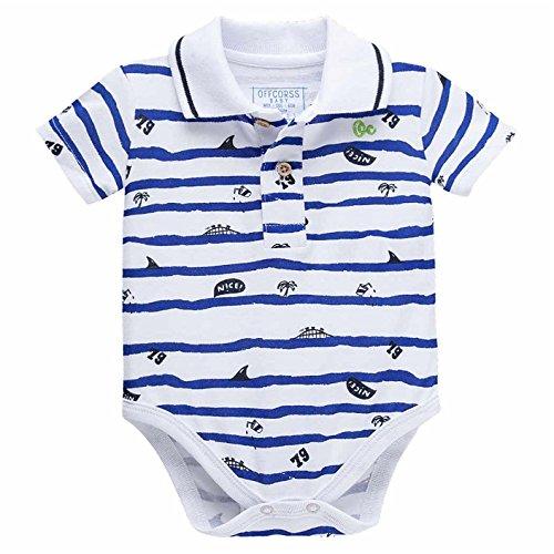 OFFCORSS Short Sleeve Baby Onesies Jumpusit Ropa Para Bebe Nio White 0-3 Months
