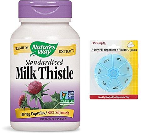Amazon.com: Forma cardo de la naturaleza estandarizado, 175 mg, 120 Vcaps con gratis 7 días plástico píldora organizadores: Health & Personal Care