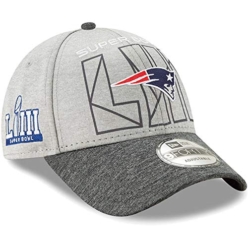 New Era New England Patriots Super Bowl LIII Bound Two-Tone 9FORTY Adjustable Hat - Heather Gray/Heather Charcoal