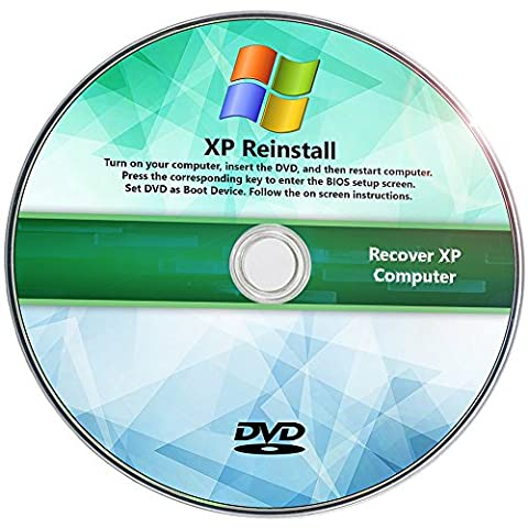 Windows XP Reinstall Recovery Repair Reset SP3 CD RecoveryEssence Disk (Disk To Clean Computer)