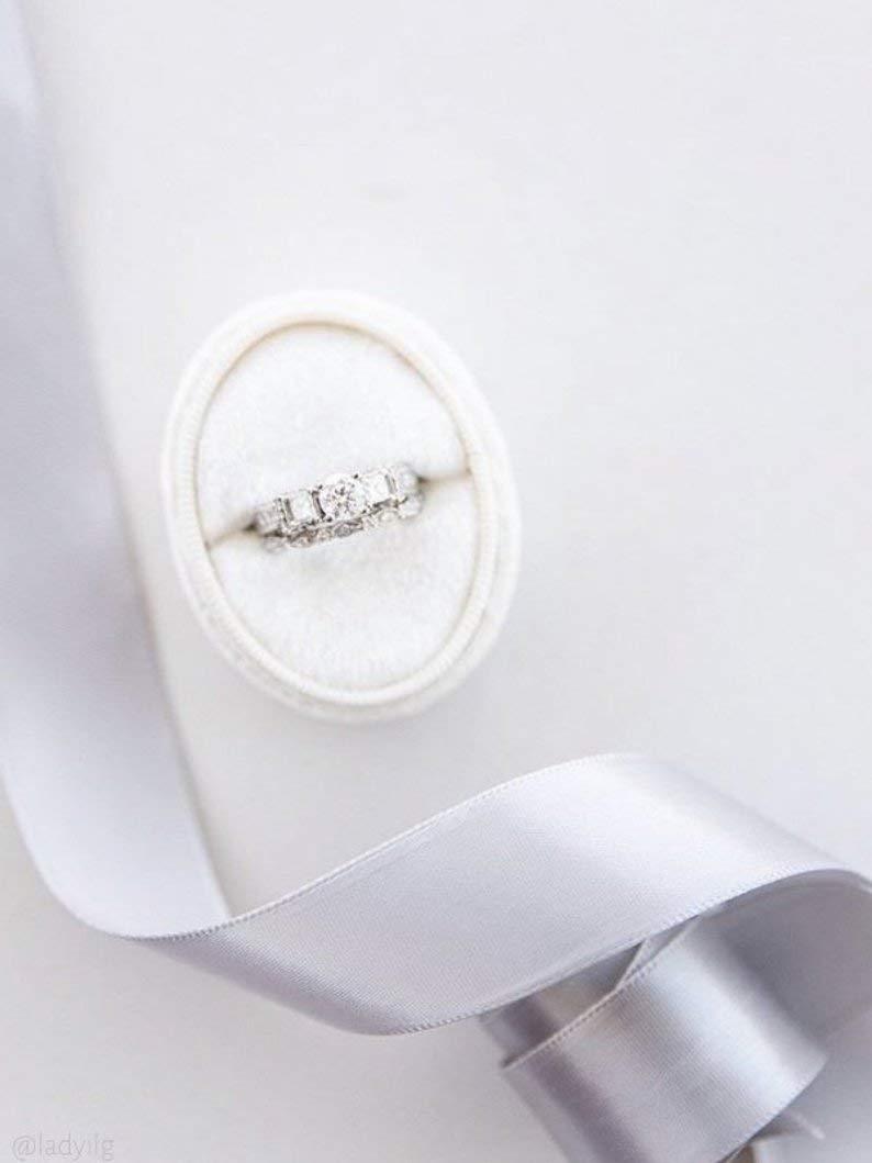 Engagement Ring Box Vintage Velvet RIng Box Ring Box Vintage Ring Box Bride to be Gift French Ring Box Velvet Ring Box Bridal Shower Gift for Mrs