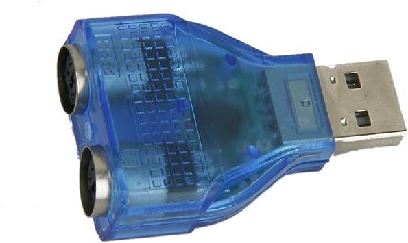 Homyl USB2.0 a PS/2 adaptador Dongle puerto USB a teclado ...